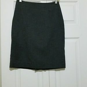 Banana Republic Grey linen skirt
